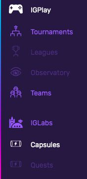 Select the 'Capsules' feature in IGLabs to generate ORB!