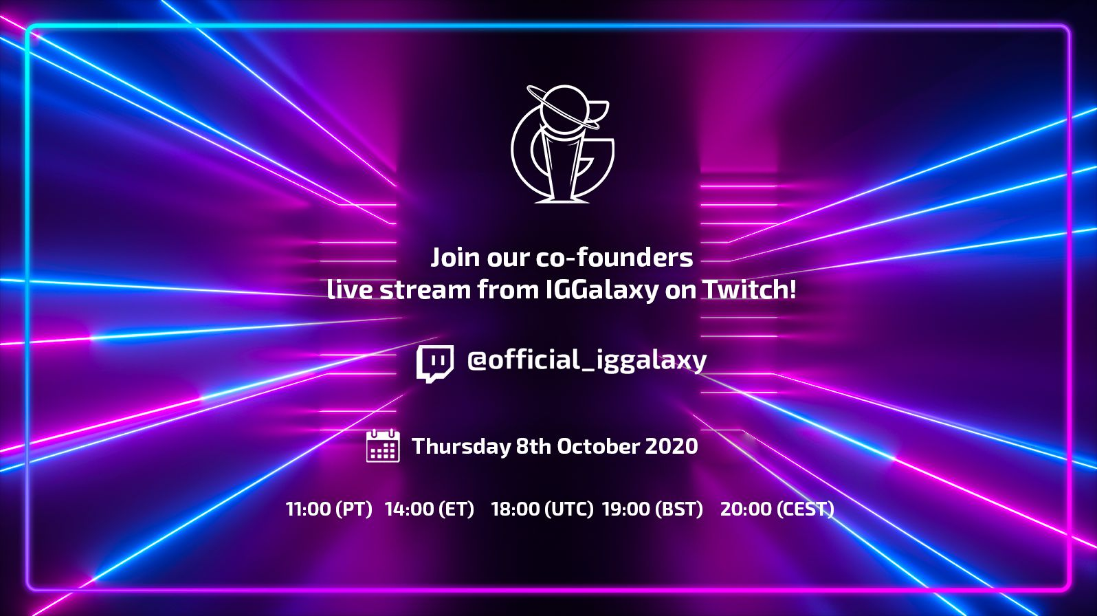 The date of our live stream has changed!