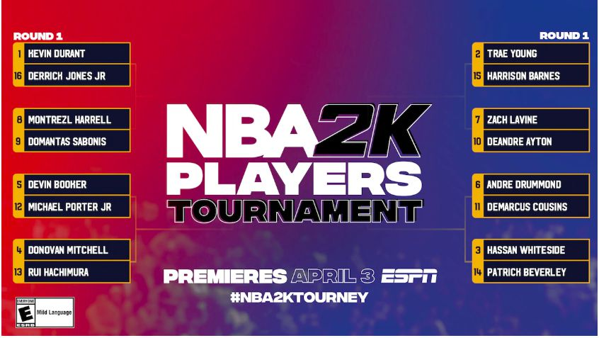 The first 'NBA 2K Players Tournament' begins tomorrow