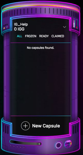 You can view all 'Frozen', 'Ready' and 'Claimed' tokens!
