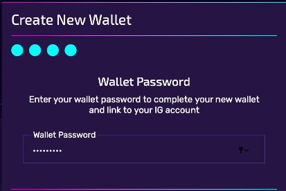 Confirm your wallet password to complete set-up!