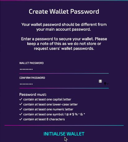 You must ensure your password meets the criteria!