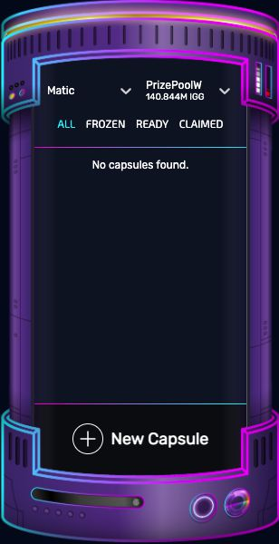 See frozen, ready and claimed IGLabs 'power capsules'!