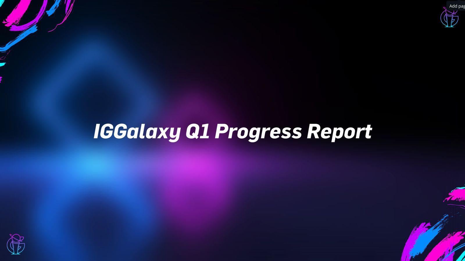 Intergalactic Gaming's Progress Report 20/04/2021