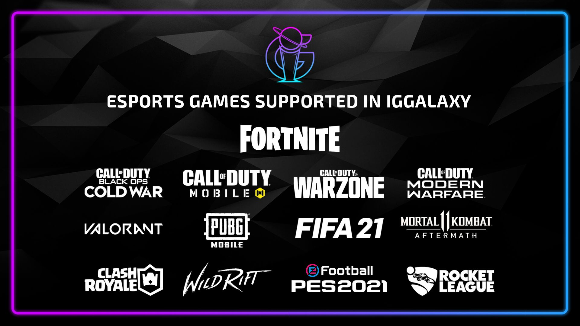 Esports tournaments available to join in IGGalaxy!