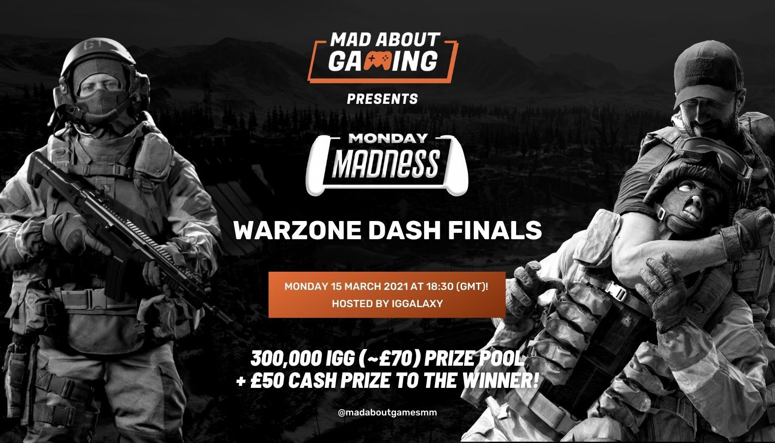 Mixtape Madness' Mad About Gaming Warzone Dash Final, powered by IGGalaxy!