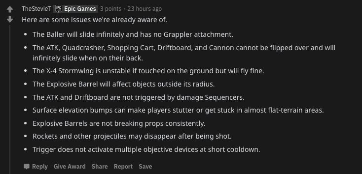 A list of glitches identified following the 11.50 patch update.