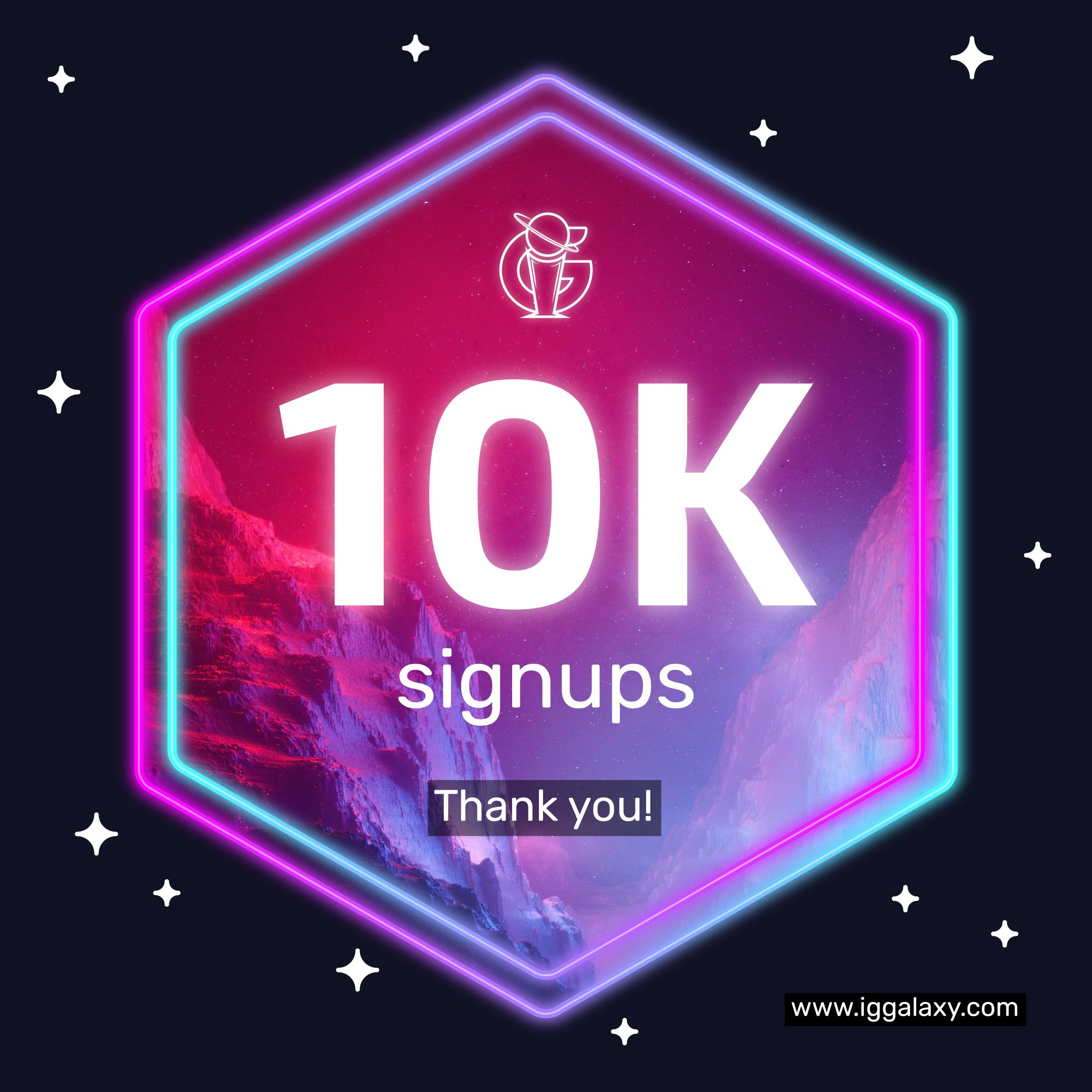 IGGalaxy reaches 10,000 sign ups!