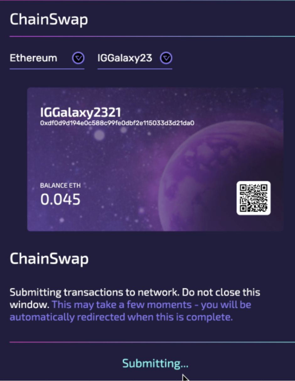 ChainSwap: Submitting.