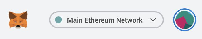 Network selection button on MetaMask