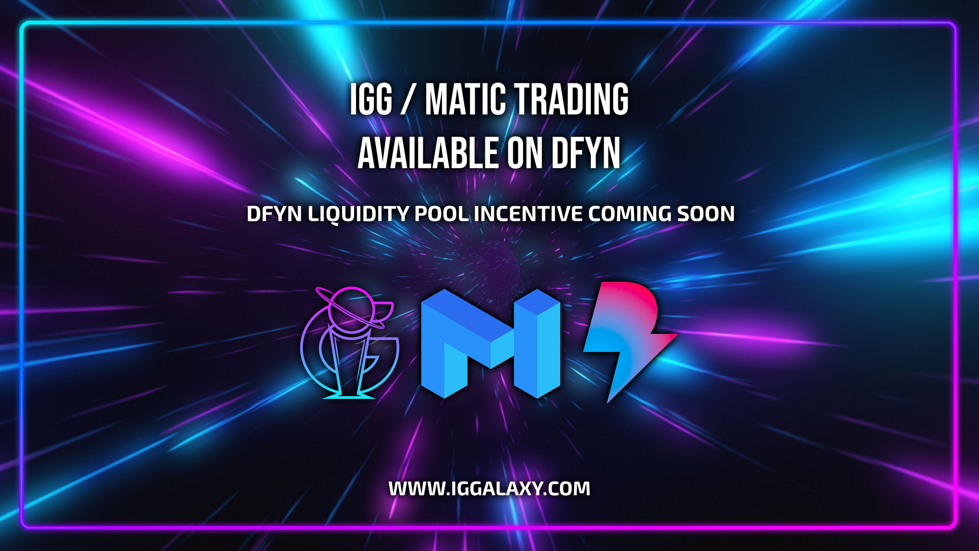 IGG/MATIC trading available on Dfyn exchange!